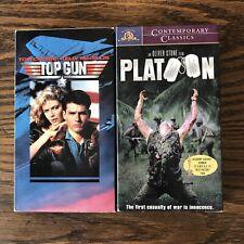 VHS Lot of 2 Top Gun & Platoon