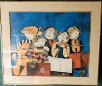 """Graciela Rodo Boulanger """"THE PRELUDE"""" Lithograph 25x30 Signed Framed VERY Heavy"""