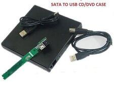 SATA TO USB 2.0 External Slim Laptop CD/DVD Drive Enclosure Case Casing