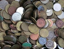 10 lb. Lot of Assorted Tokens From Anywhere Some Foreign Coins