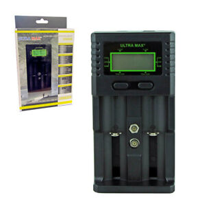UNIVERSAL BATTERY CHARGER FOR 18350 CR123A 18650 LITHIUM BATTERY CHARGE LCD