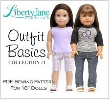 18 Inch Doll Clothes Pattern Bundle on CD - Liberty Jane Outfit Basic Collection
