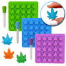 Marijuana Cannabis Pot Leaf Silicone Candy Chocolate Gummies Gummy Molds, 3 Pack