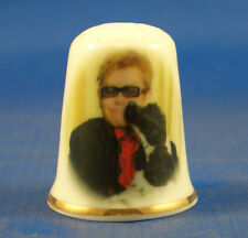 Birchcroft China Thimble -- Elton John and Arthur -- Free Dome Box