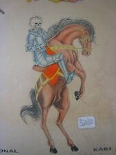 Parlor-Used Tattoo Flash...Professionally Hand Colored, 11'' x 14 ''..Lot # T- 4