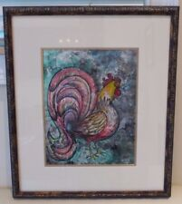 ORIGINAL WATERCOLOR PAINTING SIGNED BY ARTIST AND NICELY FRAMED