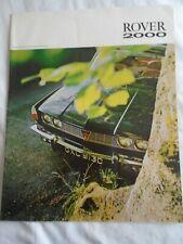 Rover 2000 range brochure c1960's ref 689