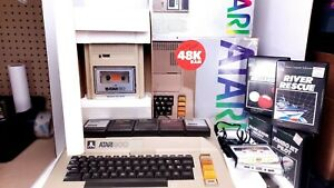 ATARI 800 Home Computer with Tape Reader 410 with 8 Games As Is