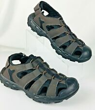 Skechers Relaxed Fit Memory Foam Mens Brown Sandals Adjust Ankle Strap Size 9 M