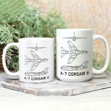 A 7 Corsair II American Plane Blueprint 11Oz 15Oz Best Cool Gift Coffee Tea Mug