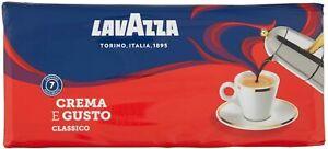 Lavazza Caffè Macinato Crema e Gusto, 4 Confezioni da 250 gr, 1 Kg