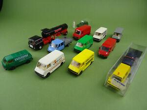 Praline Roco  etc. Konvolut LKW und Transporter 12 Stück Gebraucht 1:87 Konv111