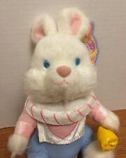 White Rabbit Alice In Wonderland Easter Bunny Bean Bag Stuffed Plush Cute Rare