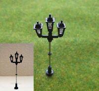 S096 - Set 10 Stück Straßenlampen 3-flammig 6cm Parkleuchten Parklampen