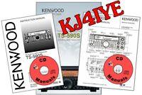 Kenwood TS-590S CD OWNER'S & SERVICE MANUALS + TECH BRO Radio KJ4IYE CD ONLY