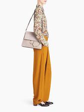 NWT Chloe Faye shoulder bag in smooth calfskin & suede calfskin motty grey $1950