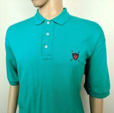 """Ralph Lauren Para Hombre Golf Polo Shirt Vintage 90s Top Cerceta Azul Talla XL Pecho 48"""""""