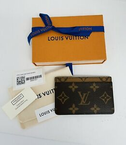 New Louis Vuitton Reverse Monogram Card Holder Case M69161 Made in France