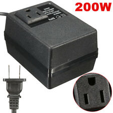 220V/240V to 110V/120V 200W Electro Power Travel Inverter Charger Converter New