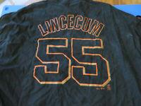 Tim Lincecum San Francisco Giants #25 T-Shirt Size XXL 2XL - Good Condition