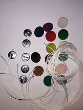 10X NO 36 WIRE LOOP BACK UPHOLSTERY BUTTONS.15 COLOURS OF VELVET TO CHOOSE