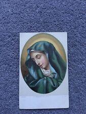 Italian Vintage Postcard, Carlo Dolci, La Madonna Del Dito Firenze