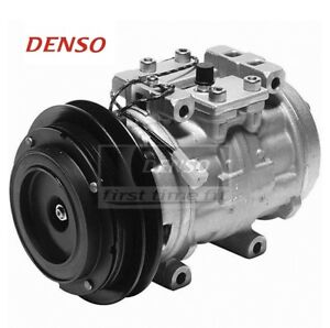 For AC A/C Compressor w/ Single Groove Clutch OE Denso for Toyota Pickup Van