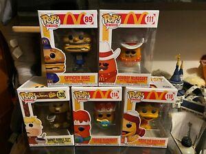 Ad Icons Funko Pop Bundle Of 5 Figures. McDonalds, Flintstones. McNugget etc