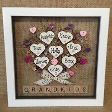 Personalised Box Frame Grandchildren Grandparents Nana Grandma Grandparents Gift
