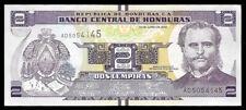 World Paper Money - Honduras 2 Lempiras 2014 Prefix Ad @ Crisp Xf-Au