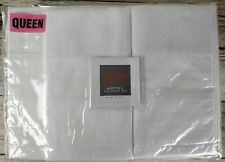 NEW BELLINO QUEEN SHEET SET WHITE HEMSTITCH LUXURY EGYPTIAN COTTON PERCALE