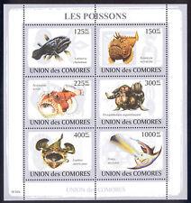 Comoro Islands - 2009 s/s of 6 Fish #1081 cv $ 11.50 Lot # 89