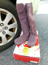 FitFlop Tall Suede Superboot Purple Knee High Long Pull On Boots Sz 5 VGUC Nice!