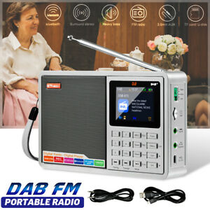 bluetooth DAB/DAB+/FM Digital Radio Speaker LCD Portable Rechargeable