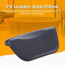 Pu Black Bath Pillow Bathtub Spa Head Rest Neck Support Back Comfort Tub