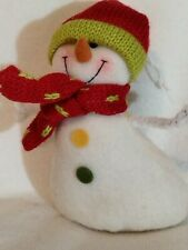 Vintage Snowman Decoration with Chenille Pipe Cleaner Arms.
