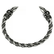 Men's Stainless Steel Viking Raven Norse Celtic Bracelet Bangle