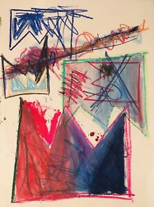 MR CLEVER ART BELOW THE LINE LARGE ABSTRACTS contemporary deco avant garde oil