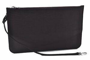 Authentic Louis Vuitton Epi Neverfull Pouch Purse Clutch Dark Purple LV B5048