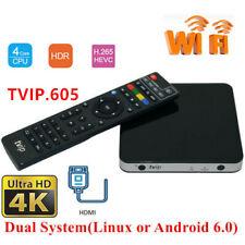 TVIP V.605 TV Box 4K Quad Core Linux Box HD Set-Top Box 2.4/5Ghz WIFI Android