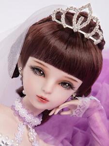 """New 1/3 Handmade PVC BJD MSD Lifelike Doll Joint Dolls Girl Gift Angelina 24"""""""