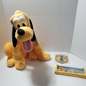 Disney's Pluto Lot, 90 Yr Anniversary Key & Pin plus Disney Store Plush NWT