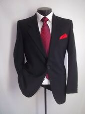 54ec599689a YSL, Yves Saint Laurent 2 Buttons Solid Black Wool Blazer Jacket, Coat 38  Short