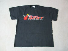 VINTAGE Champion Miami Heat Shirt Adult Large Black Red NBA Basketball Mens 90s*