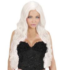 Long White Spiral Wig Fairy Tale Princess Fairy Fancy Dress Costume Accessory