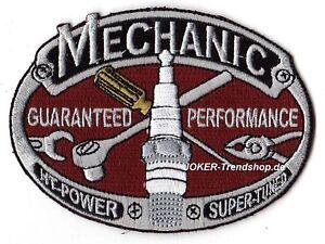 Aufnäher Mechanic Zündkerze Schraubenschlüssel Zange Patch Ratsche Wrench