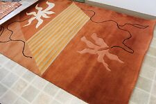 RST4598 Modern Woolen Tibetan Area Rug 4.6' X 6.7' Hand Crafted  In Nepal