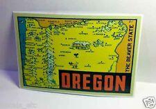 Oregon Vintage Style Travel Decal / Vinyl Sticker, Luggage Label
