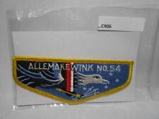 LODGE 54 ALLEMAKEWINK VERTICAL STITCH CLOTH BACK FLAP C906