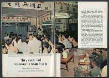1966 Tv Guide Article ~ Television Sets in VIETNAM ~ SAIGON'S OWN TV NETWORK
